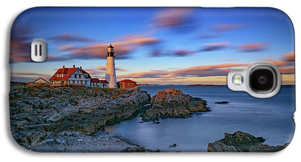 Dusk At Portland Head Lighthouse Galaxy S4 Case by Rick Berk