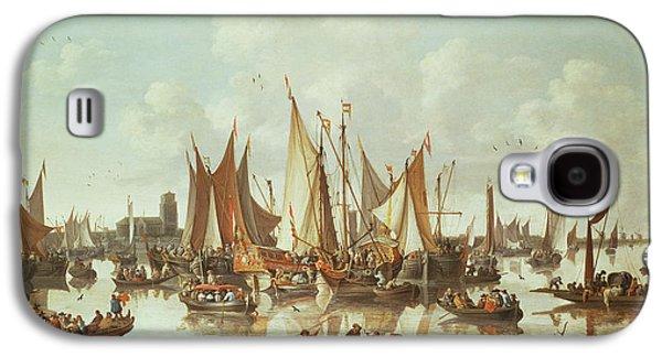 Dutch Ships At Dordrecht Harbor Galaxy S4 Case by Hendrick de Meyer