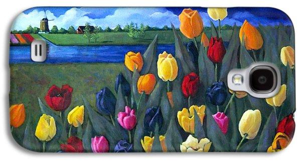 Dutch Tulips With Landscape Galaxy S4 Case by Joyce Geleynse