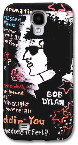 Dylan Lyric Portrait Galaxy S4 Case by Gregory McLaughlin