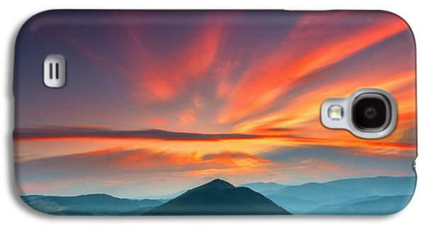 Mountain Sunset Galaxy S4 Case - Eagle Eye by Evgeni Dinev