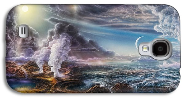 Ancient Paintings Galaxy S4 Cases - Early Earth Galaxy S4 Case by Don Dixon