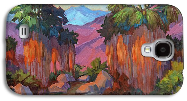 Early Spring Paintings Galaxy S4 Cases - Early Morning at Indian Canyon Galaxy S4 Case by Diane McClary