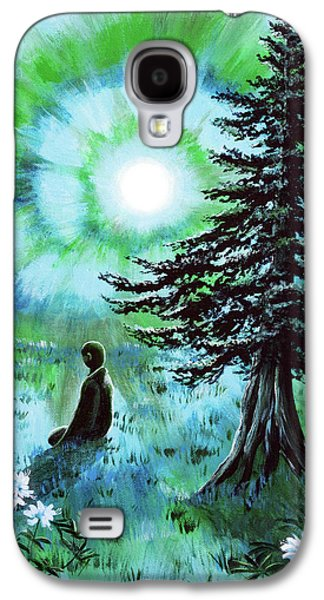 Early Morning Meditation In Blues And Greens Galaxy S4 Case by Laura Iverson