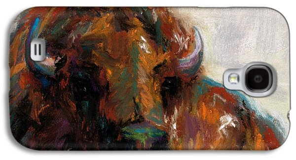 Bison Drawings Galaxy S4 Cases - Early Morning Sunrise Galaxy S4 Case by Frances Marino