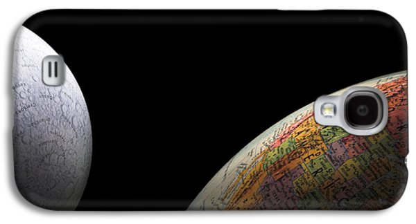 Earth And Moon Galaxy S4 Case by Rob Byron