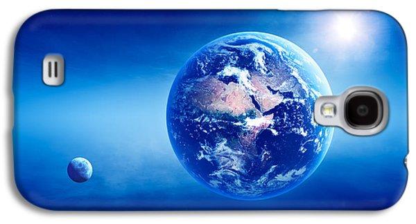 Earth Sunrise Deep Space Galaxy S4 Case by Johan Swanepoel