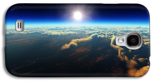 Earth Sunrise From Outer Space Galaxy S4 Case by Johan Swanepoel