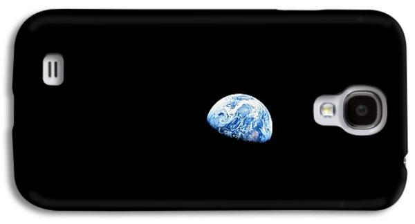 Earthrise Over Moon, Apollo 8 Galaxy S4 Case by Nasa