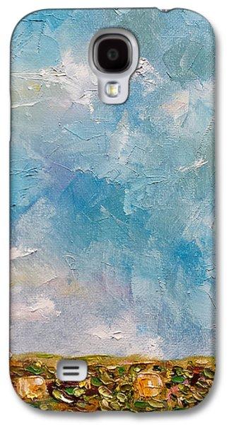 East Field Seedlings Galaxy S4 Case by Judith Rhue