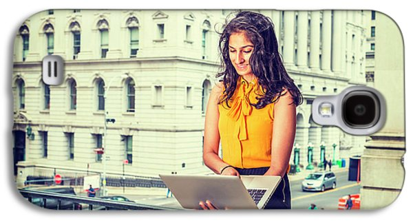 East Indian American Businesswoman In New York Galaxy S4 Case