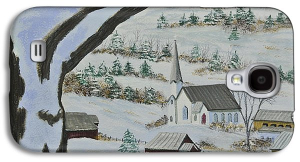 New England Snow Scene Galaxy S4 Cases - East Orange Vermont Galaxy S4 Case by Charlotte Blanchard