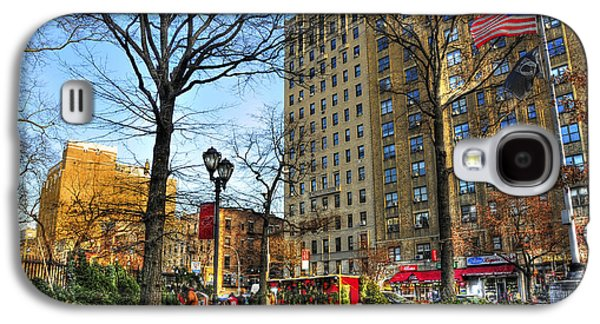 East Village Galaxy S4 Cases - East Village 2nd Avenue and 10th Street at Christmas Galaxy S4 Case by Randy Aveille