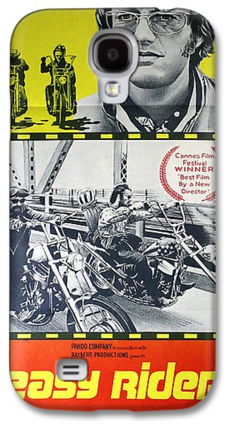Easy Rider Movie Lobby Poster  1969 Galaxy S4 Case by Daniel Hagerman