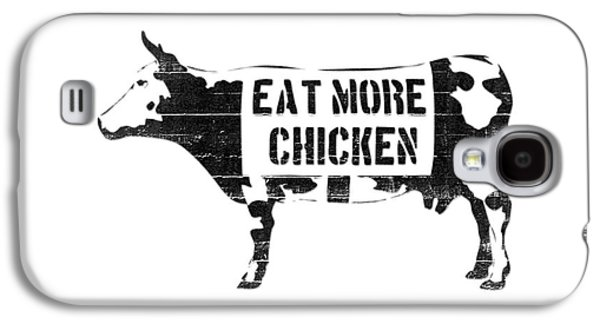 Cow Galaxy S4 Case - Eat More Chicken by Pixel  Chimp
