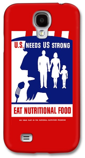 Uncle Sam - Eat Nutritional Food Galaxy S4 Case by War Is Hell Store