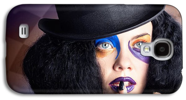 Eccentric Mad Fashion Hatter In Colourful Makeup Galaxy S4 Case