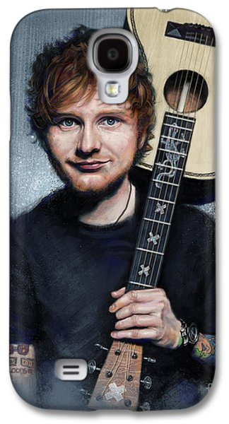 Folk Art Galaxy S4 Case - Ed Sheeran by Andre Koekemoer