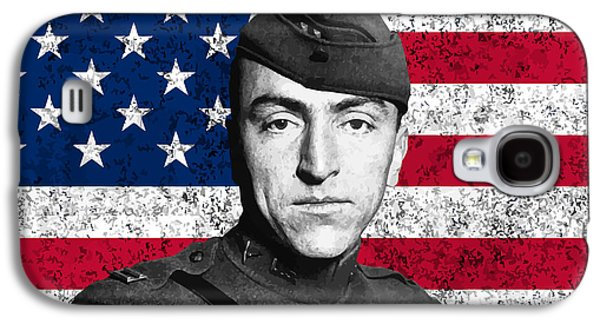 Eddie Rickenbacker And The American Flag Galaxy S4 Case by War Is Hell Store