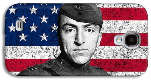 Eddie Rickenbacker And The American Flag Galaxy S4 Case