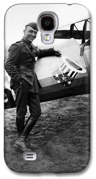 Airplane Galaxy S4 Case - Eddie Rickenbacker - Ww1 American Air Ace by War Is Hell Store