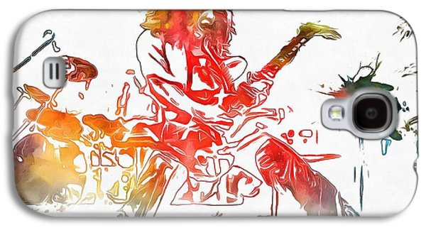 Van Halen Galaxy S4 Case - Eddie Van Halen Paint Splatter by Dan Sproul