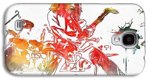 Eddie Van Halen Paint Splatter Galaxy S4 Case