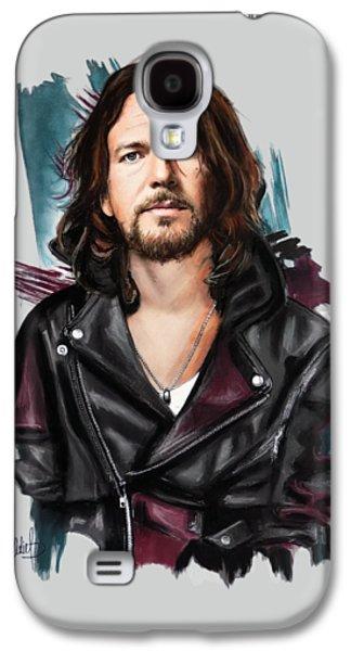 Eddie Vedder Galaxy S4 Case by Melanie D