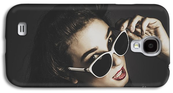 Edgy Fashion Pin Up Model Galaxy S4 Case by Jorgo Photography - Wall Art Gallery