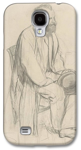 Edouard Manet, Seated, Holding His Hat Galaxy S4 Case