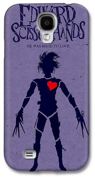 Edward Scissorhands Alternative Poster Galaxy S4 Case by Christopher Ables
