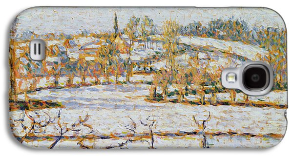 Effect Of Snow At Eragny Galaxy S4 Case by Camille Pissarro