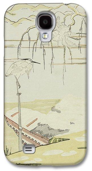 Egrets In The Snow Galaxy S4 Case by Suzuki Harunobu