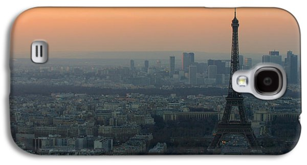 Eiffel Tower At Dusk Galaxy S4 Case by Sebastian Musial