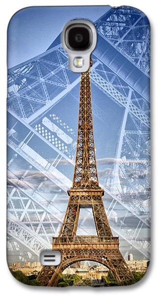Eiffel Tower Double Exposure II Galaxy S4 Case by Melanie Viola