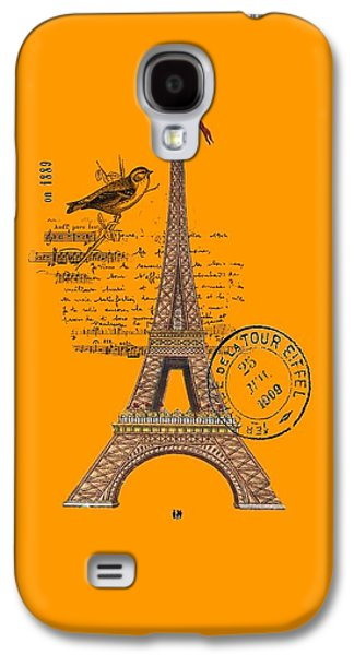 Eiffel Tower T Shirt Design Galaxy S4 Case