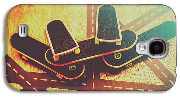 Eighties Street Skateboarders Galaxy S4 Case by Jorgo Photography - Wall Art Gallery