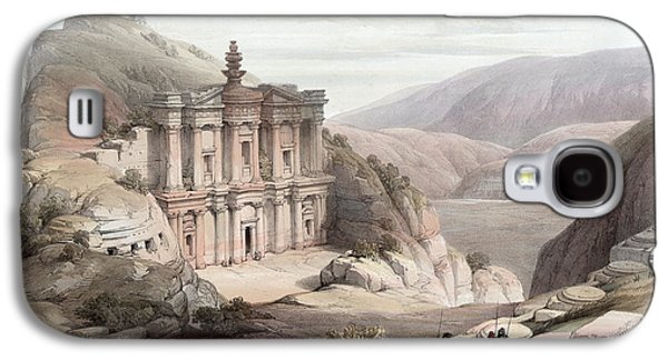 Petra Galaxy S4 Cases - El Deir Petra 1839 Galaxy S4 Case by Munir Alawi