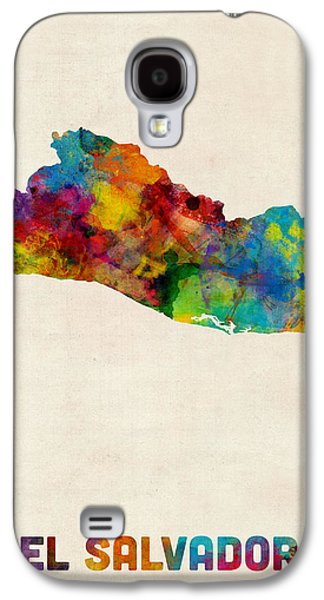 El Salvador Watercolor Map Galaxy S4 Case by Michael Tompsett