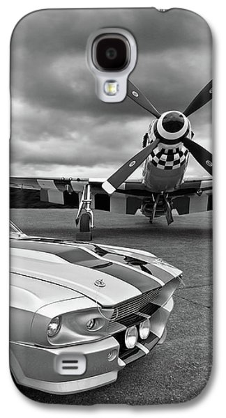 Airplane Galaxy S4 Case - Eleanor Mustang With P51 Black And White by Gill Billington