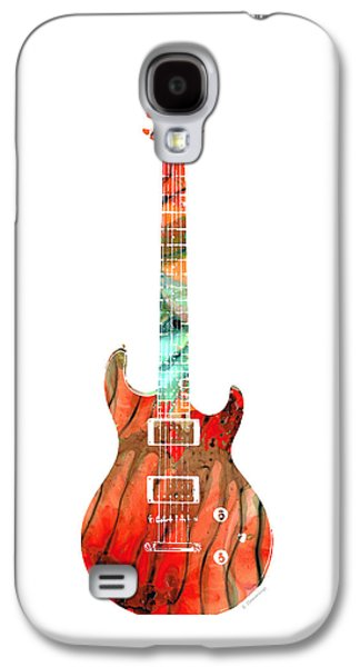 Electric Guitar 2 - Buy Colorful Abstract Musical Instrument Galaxy S4 Case by Sharon Cummings