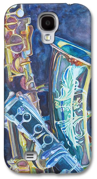 Saxophone Galaxy S4 Case - Electric Reeds by Jenny Armitage