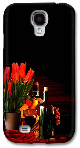 Grape Leaf Galaxy S4 Cases - Elegance Galaxy S4 Case by Lourry Legarde
