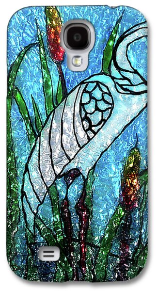 Green Glass Galaxy S4 Cases - Elegant White Heron Galaxy S4 Case by Farah Faizal