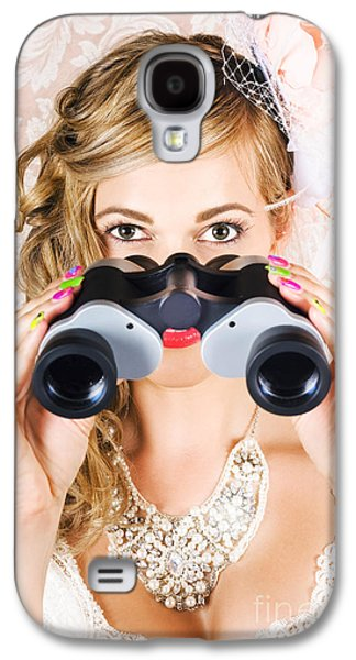 Elegant Woman Watching Spring Carnival Horse Races Galaxy S4 Case by Jorgo Photography - Wall Art Gallery