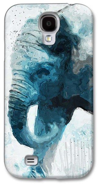 Elephant- Art By Linda Woods Galaxy S4 Case by Linda Woods