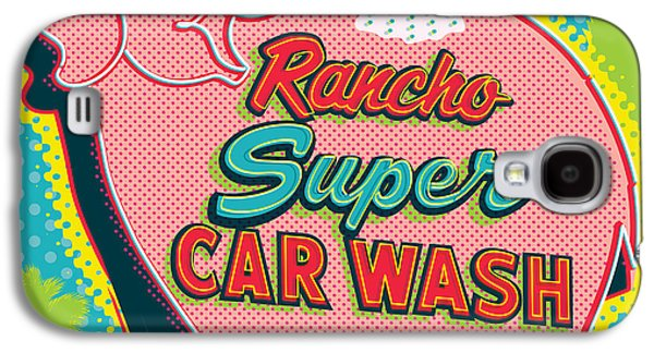 Car Galaxy S4 Case - Elephant Car Wash - Rancho Mirage - Palm Springs by Jim Zahniser