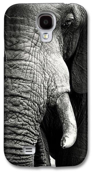 Nobody Galaxy S4 Case - Elephant Close-up Portrait by Johan Swanepoel