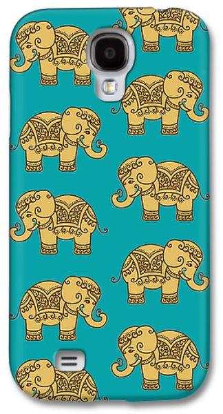 Elephant Pattern Galaxy S4 Case by Krishna Kharidehal