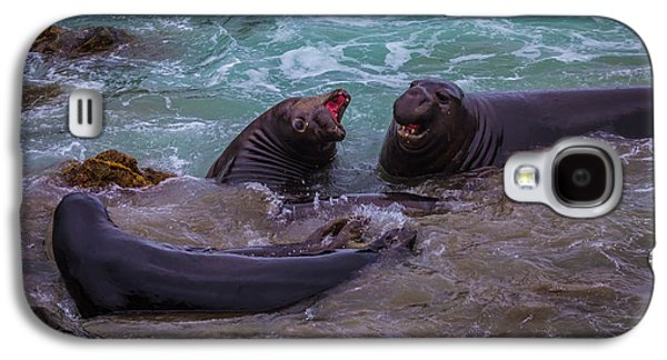 Elephant Seals In The Surf Galaxy S4 Case